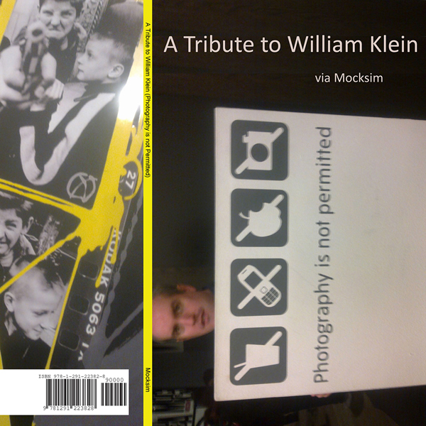 Work entitled A Tribute to William Klein (Photography is not permitted)